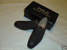 Polo RALPH LAUREN DAMOIN Leather SHOES _ 9D * BROWN Oxford classic pull-up