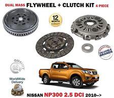 FOR NISSAN NAVARA NP300 D40 2.5 DCI 2010-> DUAL MASS FLYWHEEL +3PIECE CLUTCH KIT
