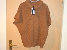 (705) Damen Pullover, Rolli, Kastenform braun Gr: M NEU