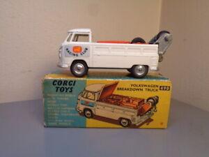 CORGI TOYS No 490 VINTAGE 1960'S VW VOLKSWAGEN BREAKDOWN TRUCK NMINT IN BOX