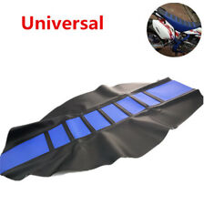 Universal Leather Gripper Soft Rubber Seat Cover For Motorcycle Dirt Bike Seat