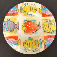 Antica Fornace Ceramiche Large Colorful Fish Serving Platter Made in Italy