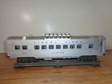 """LIONEL O GAUGE # 2432 """"CLIFTON"""" LIGHTED ASTRO-DOME CAR"""