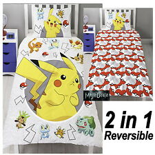 POKEMON GO CATCH SINGLE DUVET COVER AND PILLOWCASE SET BEDDING OFFICIAL IN STOCK