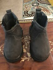Carter's Toddler Gray Velvet Zipper Up Ankle Boots Size 5 Toddler.