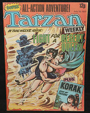 Tarzan Weekly UK Comic (Grade 8.0) July 16, 1977