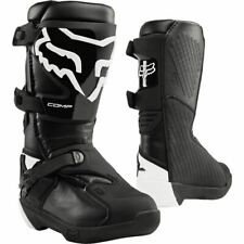 Fox Racing Comp Youth Boots - Black/White, All Sizes