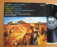 ZRG 845 Barber Ives Copland Cowell Creston Marriner NEAR MINT Argo Holland LP