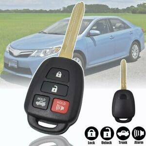 For Toyota Camry Corolla RAV4 Vios Yaris Car Remote Key Case Fob 4 Buttons Shell