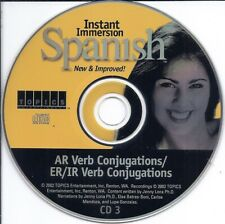 Instant Immersion Spanish Cd (Ar Er Ir Verb Conjugations learn lesson beginner)