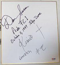Dan Severn & Kimo Leopoldo Signed Shikishi Japanese Art Board PSA/DNA Pride FC 1