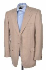 KITON Beige Twill 100% CASHMERE Womens Blazer Sport Coat Jacket - 44 / US 6