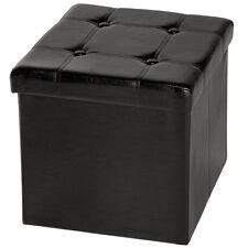 Tabouret pliant cube pouf dé pliable coffre siège de rangement 38x38x38 cm NEUF