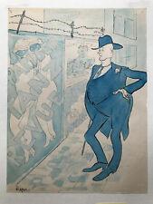 Julius Macon, Karikatur, Originakgraphik,