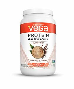 Vega Protein and Energy Cold Brew Coffee (25 servings, 30.9 oz) - Plant Based