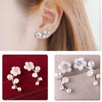 Women Fashion Jewelry Lady Elegant Crystal Rhinestone Ear Stud Earrings 1Pair GA