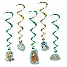 Woodland Friends Whirls Forest Animal Birthday Party Bear Fox Decorations 5 Pc