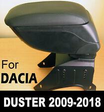Accoudoir Console Central en Cuir Noir Spécifique pour Dacia Renault Duster