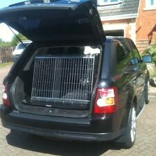 PET WORLD NEW RANGE ROVER SPORT SLOPING CAR DOG CAGE BOOT TRAVEL PUPPY GUARD