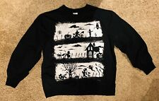 Disney Store Halloween Sweatshirt Mickey Donald Goofy Silhouette Black XL