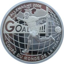 Congo 10 Francs 2004, FIFA World Cup 2006, Fußball, Silber, PP