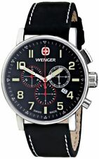 Wenger Men's 01.1243.104 Commando Chrono Analog Display Swiss Quartz Black Watch
