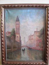 Antique Venetian Impressionism Painting
