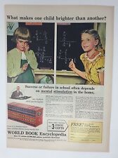Original Print Ad 1950 WORLD BOOK ENCYCLOPEDIA Makes One Child Brighter