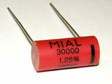 10 x MIAL 30000pF 30nF 1.25% 125V Precision Polystyrene Capacitors NOS