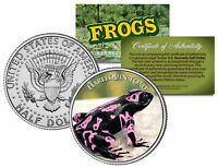 HARLEQUIN TOAD * Collectible Frogs * JFK Kennedy Half Dollar US Colorized Coin
