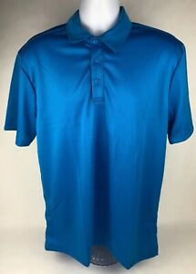 Port Authority Sapphire Blue Polo Style Short Sleeve 3 Button Golf Shirt FSTSHP