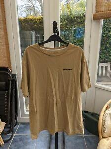 Patagonia P-6 Logo Organic T-Shirt - Men's Large L - Classic Tan