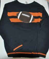 Boy's Sweater Football Blue Orange Stripe S 5 6 Gymboree Retail Small 2012 NWT