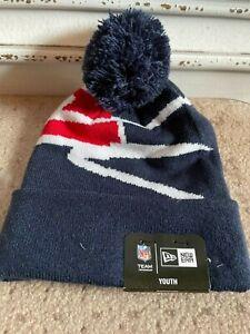 New England Patriots Beanie Hat Stocking Cap One Size Youth New Era