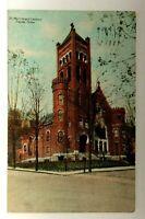 C. 1909 Tyrone Pennsylvania St Matthews Church Vintage Postcard