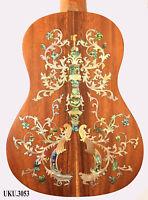 Antonio - Flower Inlaid-Solid Wood Acacia Koa Ukulele Tenor 4 Str Handmade 3053
