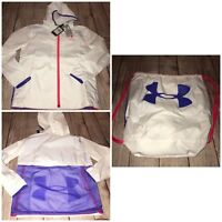 Under Armour Youth Small 7-8 Girls Sackpack Jacket White NEW
