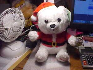 "2020 Christmas White & Red Plush Stuffed Teddy Bear by Hallmark 10"""