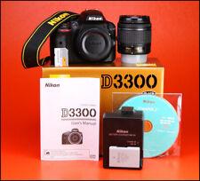 Nikon D3300 DSLR Camera & AF-P 18-55mm Zoom Lens Kit - 1080p Low Use 2,938 Shots