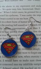 HANDCRAFTED EARRINGS - SUPERMAN / SUPERGIRL - SILVER PLATED- SUPERHERO HULK THOR