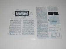 Soundcraftsmen Pe-2217 Pre / Eq Revisión 1978 , 2 Pages, Completo Tests ,