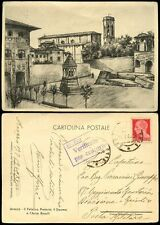ITALY 1940 CENSORED POSTCARD AREZZO MILITARY