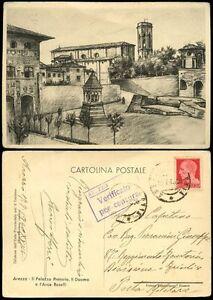 ITALY 1940 CENSORED POSTCARD AREZZO MILITARY