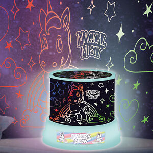 Amazing Unicorn Sky Fairy Star Night Light LED Projector Mood Lamp Kids Girl Boy