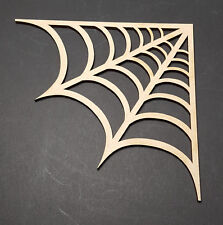 100mm Spiders web MDF wall art window decoration craft shape halloween party