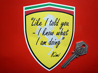 KIMI RAIKKONEN I Told You I Know What I Am Doing F1 FUNNY CAR sticker Formula 1