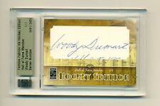 Woody Dumart 2010 Famous Telas Corte Firmas Autógrafo #1/1 Bruins NHL Hof