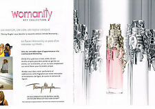 Publicité advertising  2011   WOMANITY    2 pages)  THIERRY MUGLER  parfum