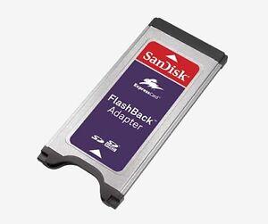 SanDisk FlashBack Adapter Lesegerät für SDHC SD Speicher Express Karte SDAD-111