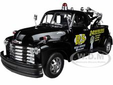 """1953 CHEVROLET 3800 TOW TRUCK BLACK """"ROAD SERVICE"""" 1/24 BY WELLY 22086"""